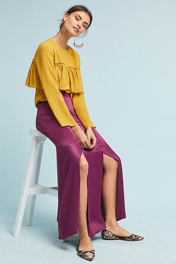 Sidone Maxi Skirt - Raspberry, Size Xl