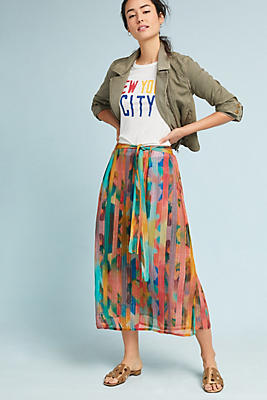Slide View: 1: Immanya Striped Skirt