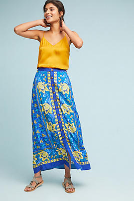 Slide View: 1: Buttoned Cornelia Skirt