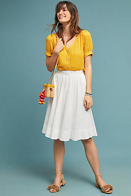 Slide View: 1: Textured Stripe Skirt