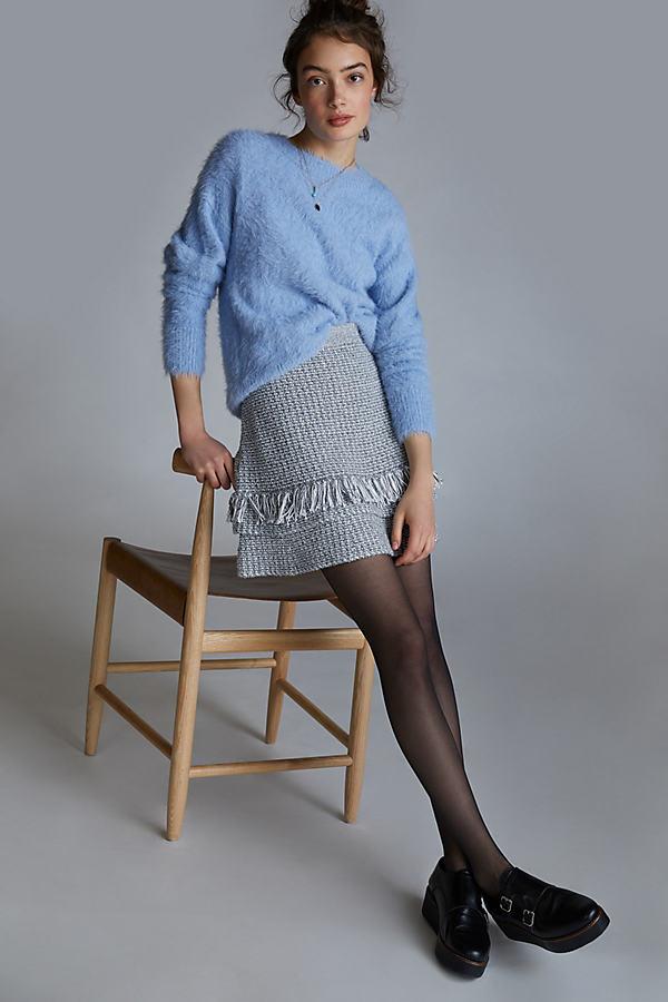 Maeve Ruffled Knitted Mini Skirt