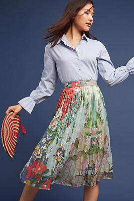 Slide View: 1: Jardin Pleated Skirt