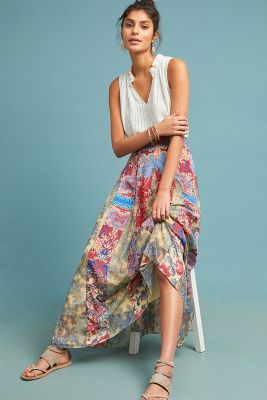 Louvre Maxi Skirt by Hemant & Nandita
