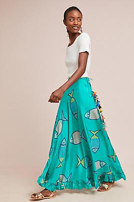 Slide View: 1: Summer School Silk Maxi Skirt