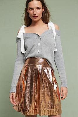 Slide View: 1: Rose Gold Mini Skirt