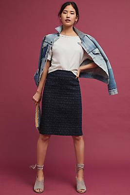 Slide View: 1: Printed Pencil Skirt