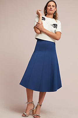 Slide View: 1: Ponte Knit Skirt