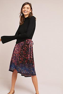 Slide View: 1: Knit Wrap Skirt