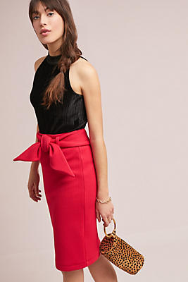 Slide View: 1: Bow-Tied Pencil Skirt