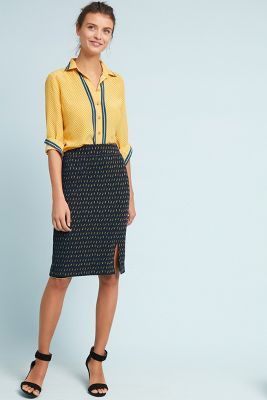 Hannon Textured Pencil Skirt by Maeve