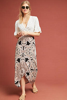 Slide View: 1: Corvo Wrap Skirt