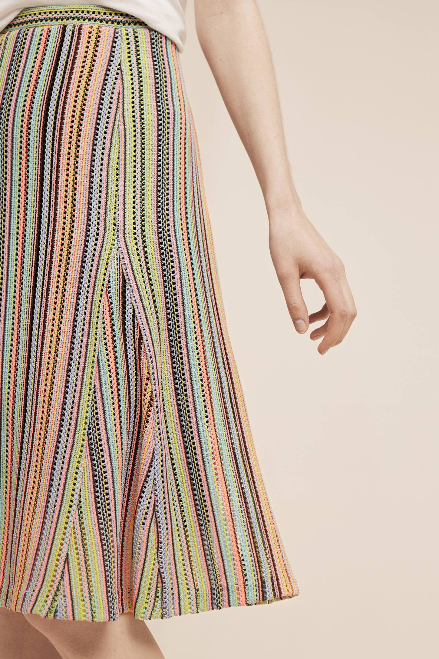 Slide View: 3: Spectral Stripe Skirt