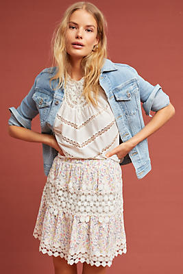 Slide View: 1: Margo Lace Skirt