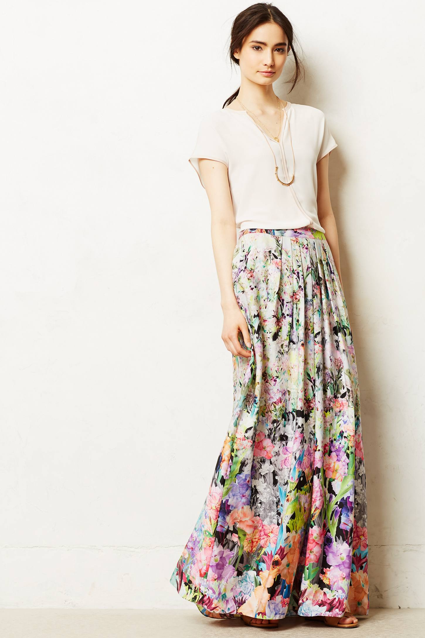 Firefleur Maxi Skirt | Anthropologie
