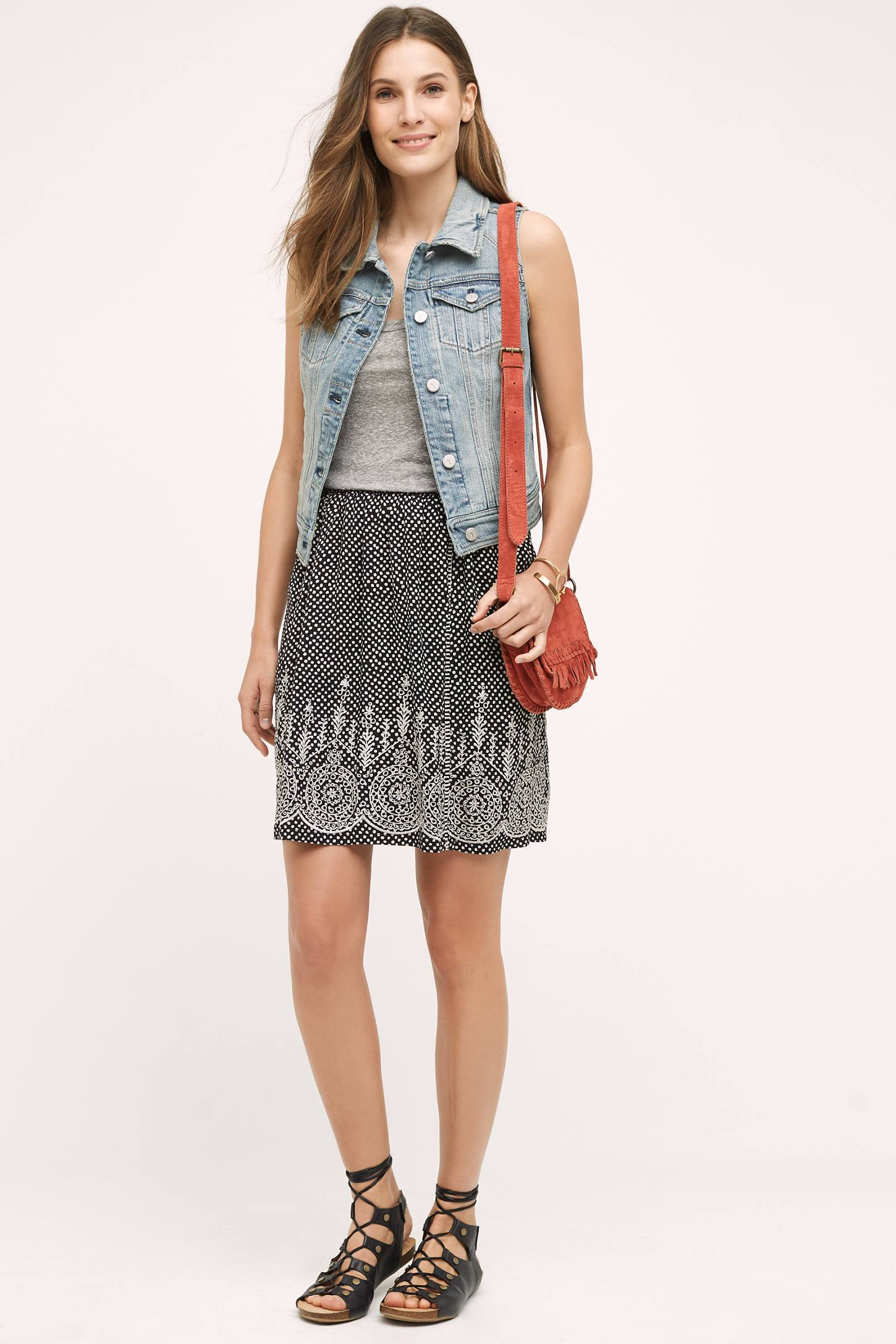 Laurel Embroidered Skirt