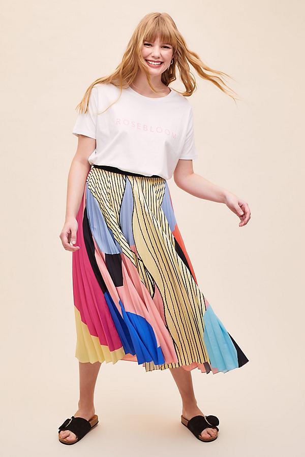 Fara Colourblocked-Pleated Skirt
