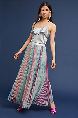 Slide View: 1: Lily Garden Pleated Skirt
