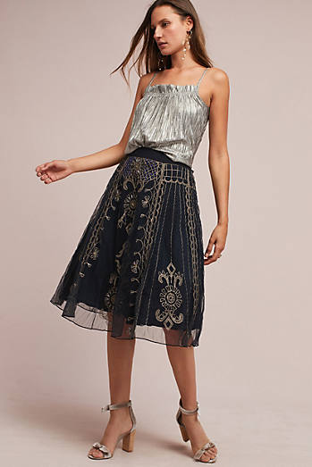 Embroidered Amande Skirt