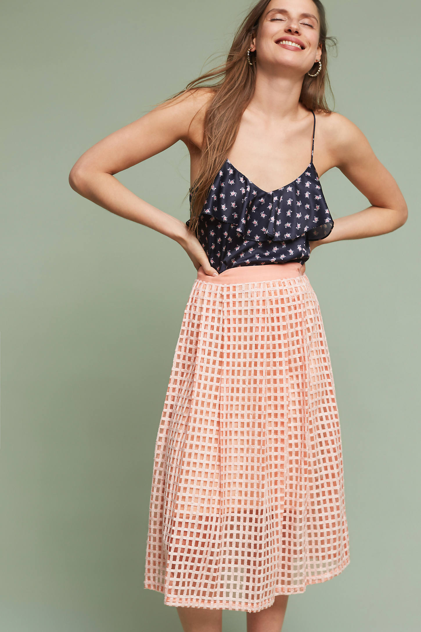 Graphique Midi Skirt