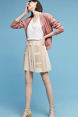 Slide View: 2: Grecie Embellished Mini Skirt