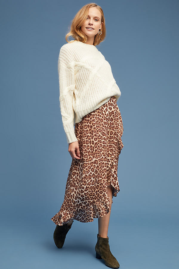 Leopard Wrap Skirt - Assorted, Size S