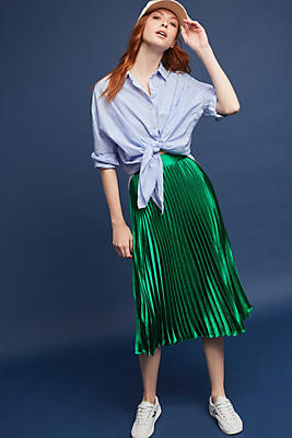 Slide View: 1: Uma Pleated Midi Skirt