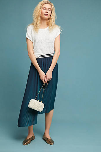 Two-Toned Pleated Skirt
