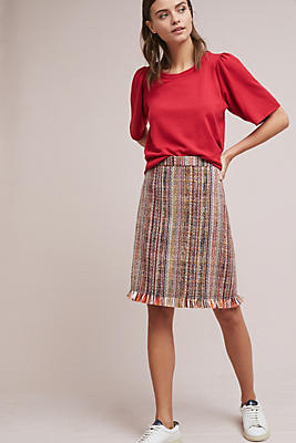 Slide View: 1: Tweed A-Line Skirt