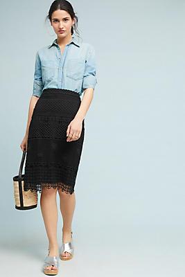 Slide View: 1: Crocheted Pencil Skirt