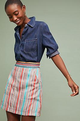 Slide View: 1: Sophy Striped Skirt