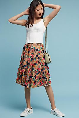 Slide View: 1: Embellished Tulle Skirt
