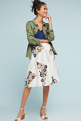 Slide View: 1: Miley Floral Skirt