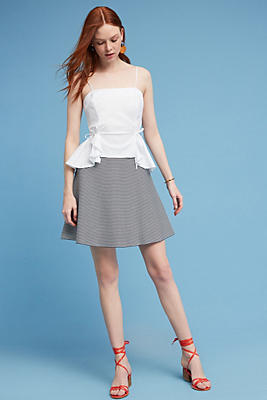 Slide View: 1: Maura Striped Mini Skirt