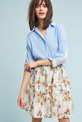 Slide View: 1: Beachy Floral Skirt