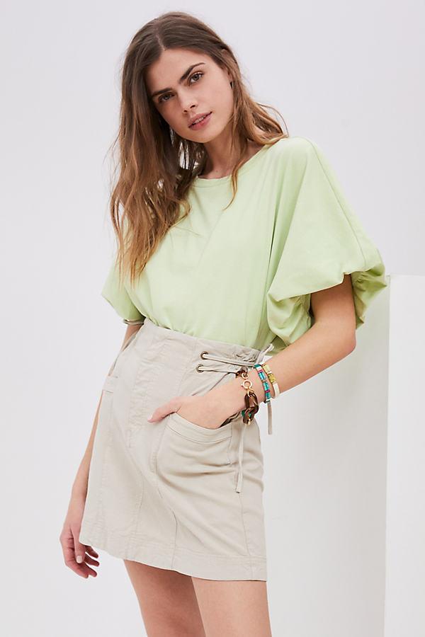 Blake Lace-Up Mini Skirt
