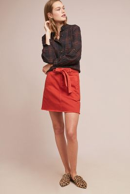 Pilcro Belted Mini Skirt by Pilcro And The Letterpress