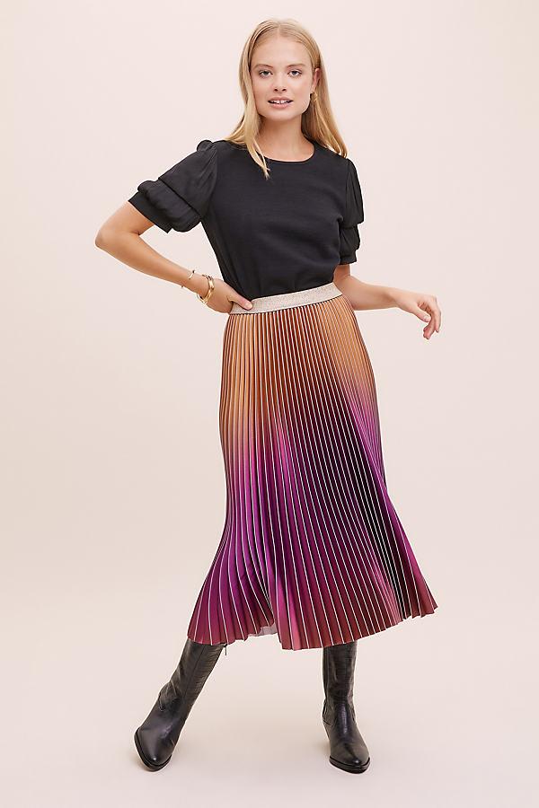 Eddy Pleated Ombre Skirt
