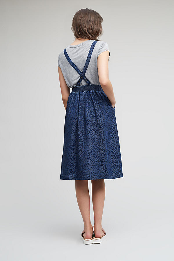 Slide View: 2: Robe salopette Elizabeth, bleue