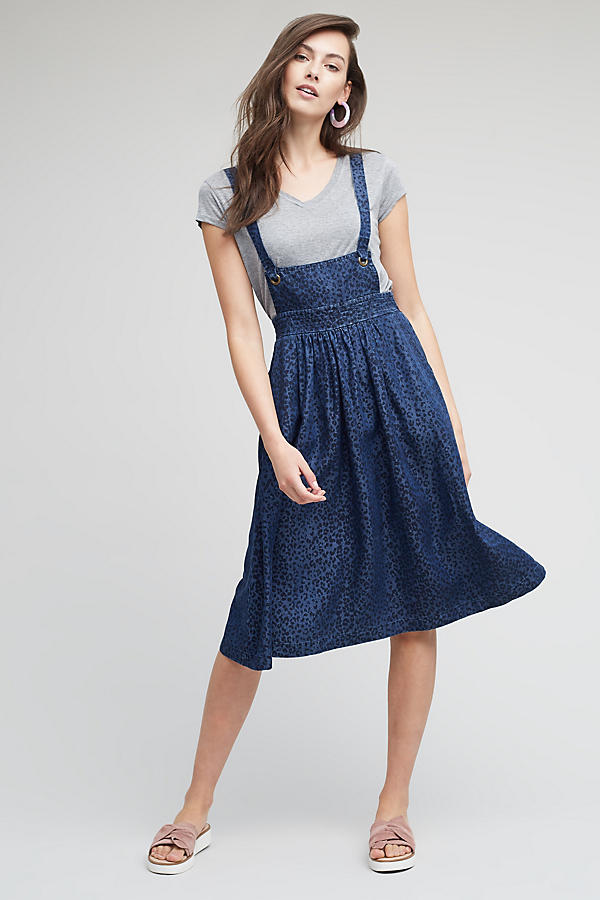Slide View: 1: Robe salopette Elizabeth, bleue