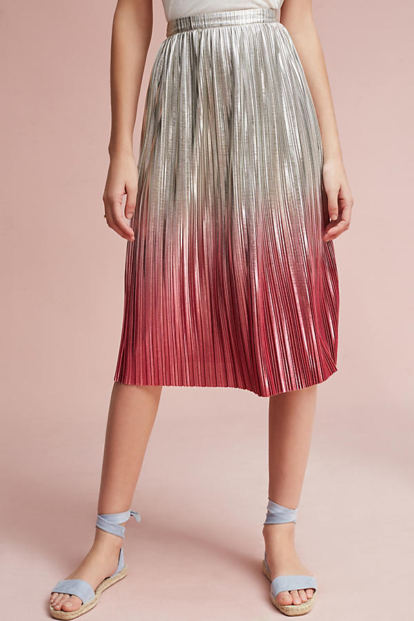 Slide View: 2: Ombre Pleated Skirt