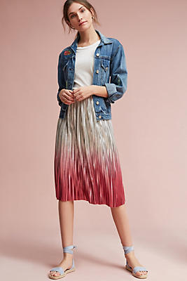 Slide View: 1: Ombre Pleated Skirt