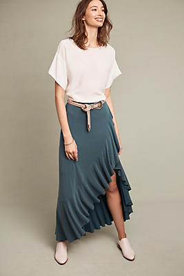 Slide View: 1: Ruffled Maxi Skirt