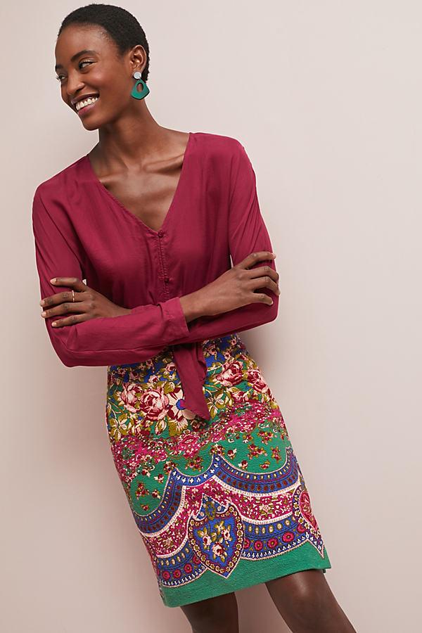 Sheffield Textured Pencil Skirt - Assorted, Size Uk 10