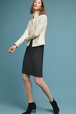 Slide View: 1: Samantha Knit Pencil Skirt