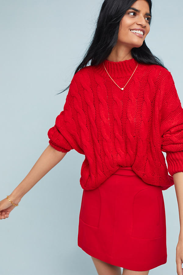 Novato Skirt - Red, Size Uk 10