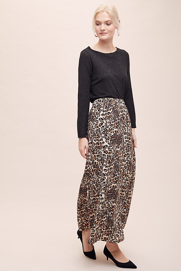 Selected Femme Maxine Leopard-Print Skirt - Assorted, Size Uk 8