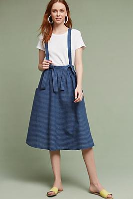 Slide View: 1: Regina Suspender Skirt