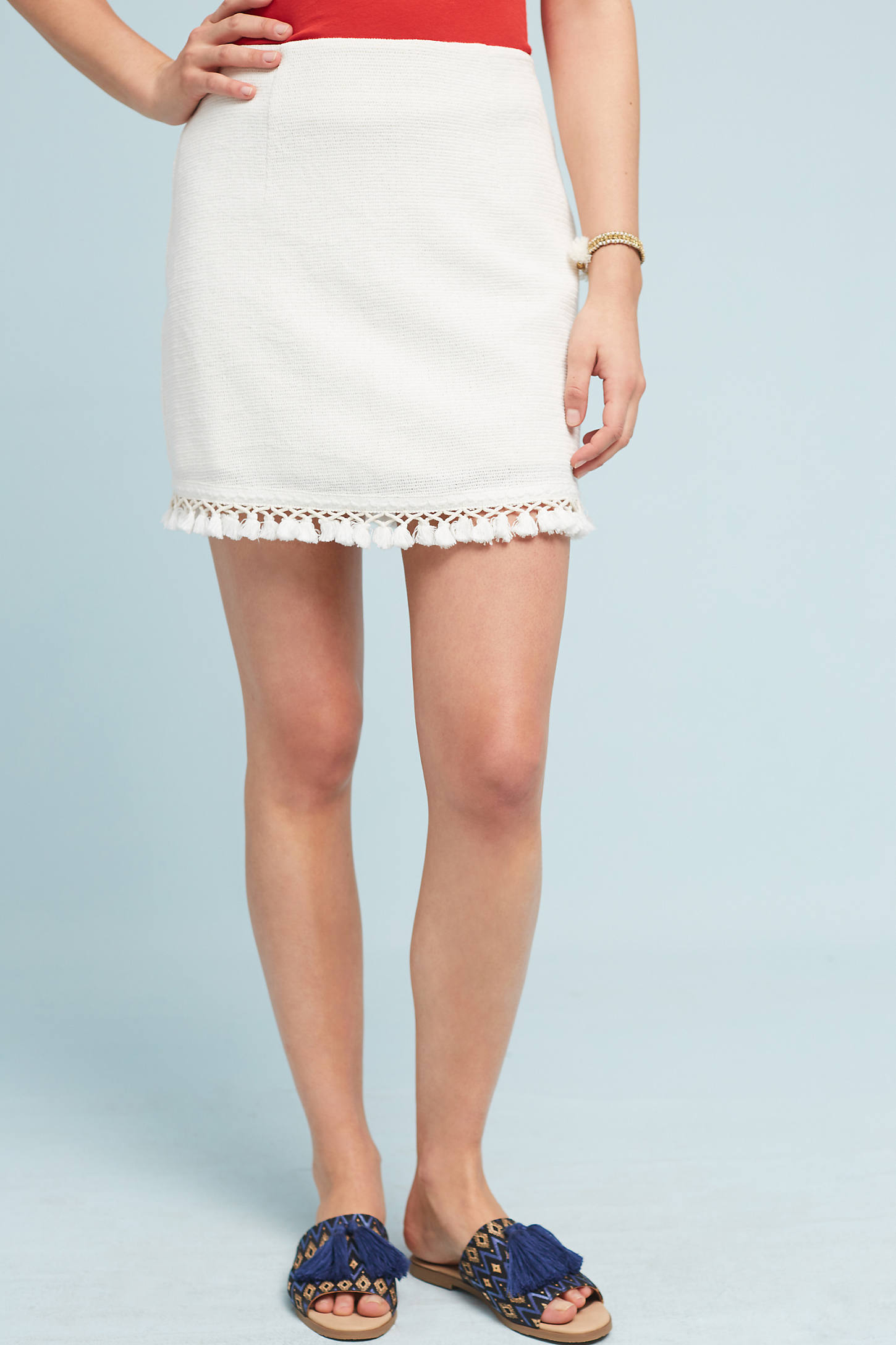 Tasseled Mini Skirt
