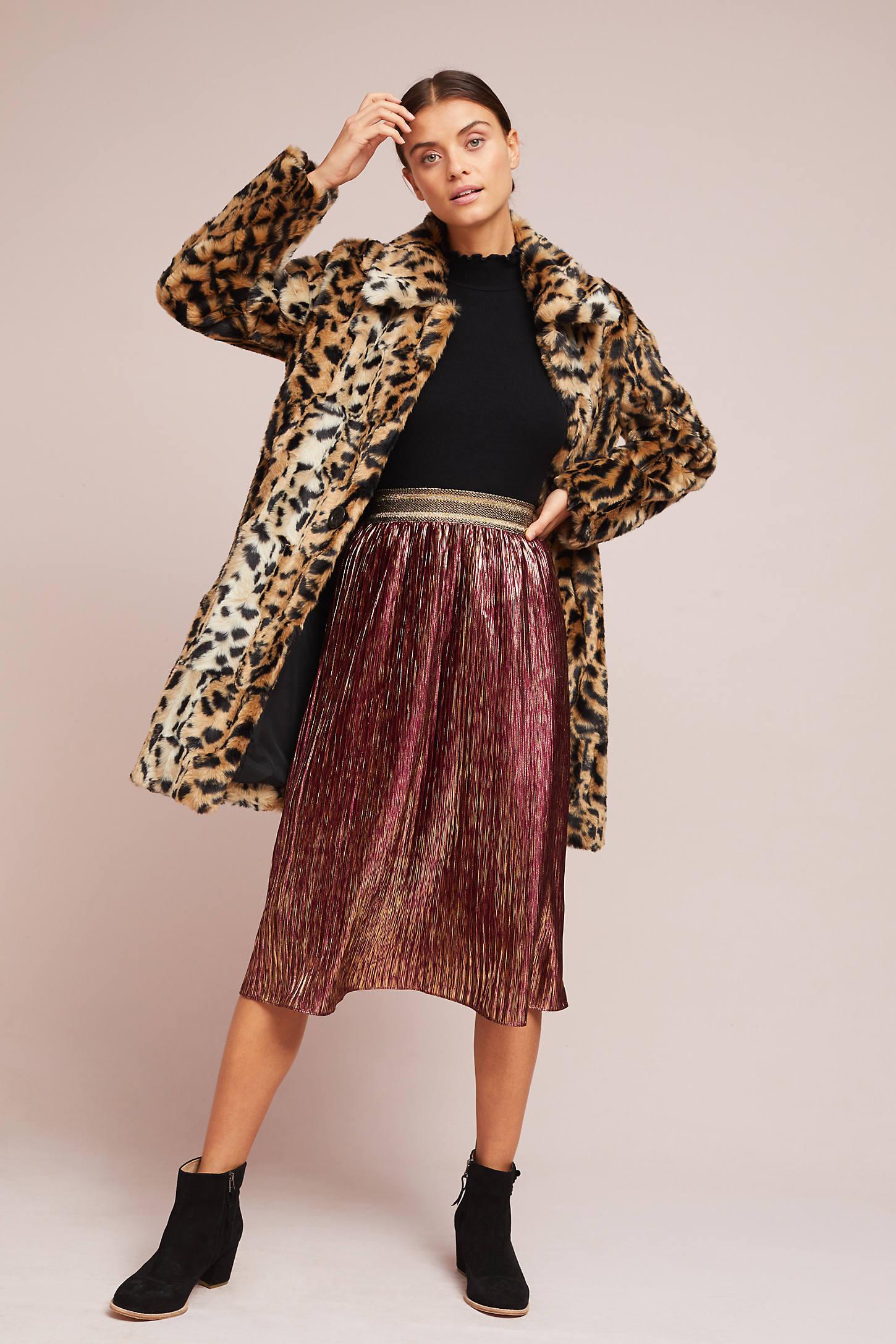 Pleated Shine Skirt