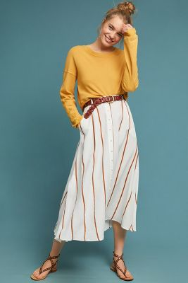 Trieste Striped Skirt by Sancia